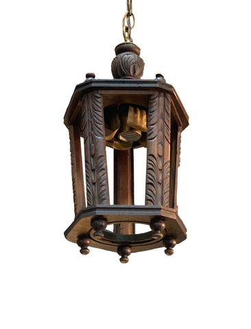 Carved Wood Lantern
