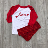Valentine's Day Girls Love - Baseball style shirt