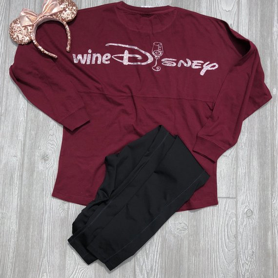 wineDisney Long Sleeve Jersey