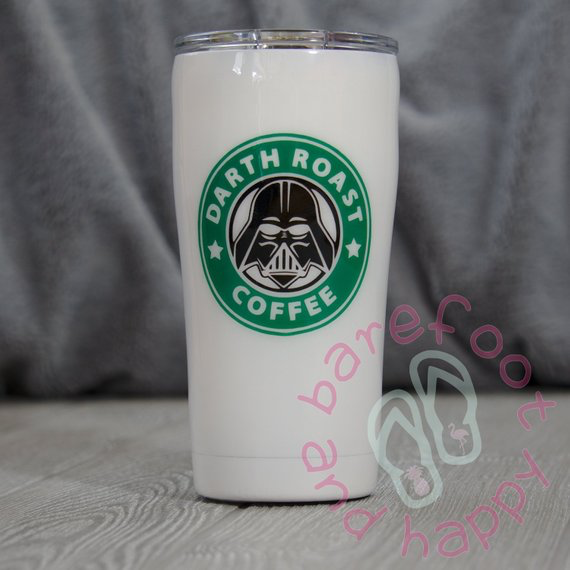 Darth Roast YETI Tumbler, Yeti Style, 30oz Stainless Steel, Custom Personalized Design,Glitter,Double Wall Insulated