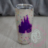 Castle YETI Tumbler, Yeti Style, 30oz Stainless Steel, Custom Personalized Design, Glitter,Double Wall Insulated