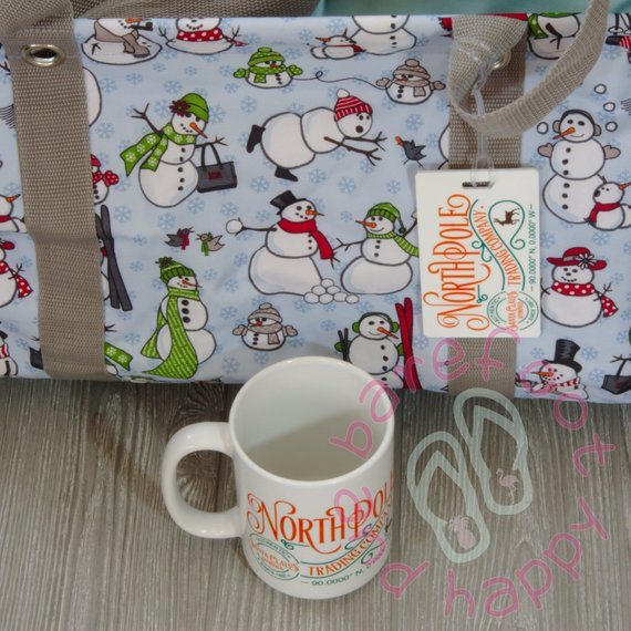 North Pole Company Sublimated Coffee Cup and Luggage Tag Gift Set