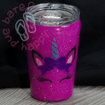 Unicorn Yeti Tumbler Custom, Glitter, Personalized