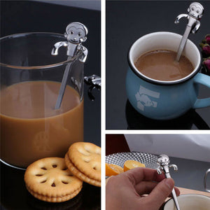 Stainless Steel Cute Cartoon animal Coffee Spoon