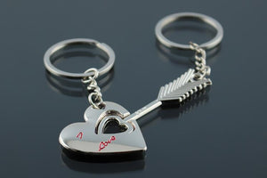 Cute Couple Cat Keychain