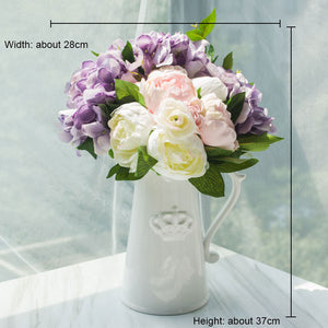 Northyle Europe white crown ceramic flower vase