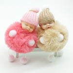 Sleeping Baby Doll Keychain