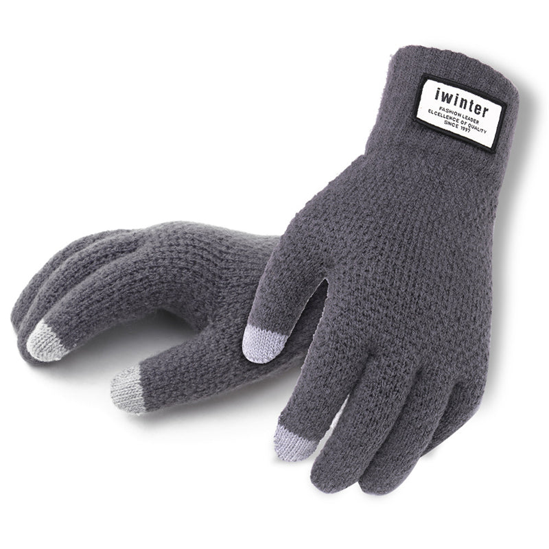 Winter Autumn Men Knitted Gloves