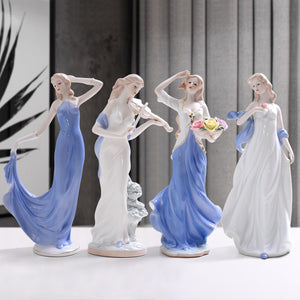 Western Female Characters Girls Lady Home Decor Ceramic