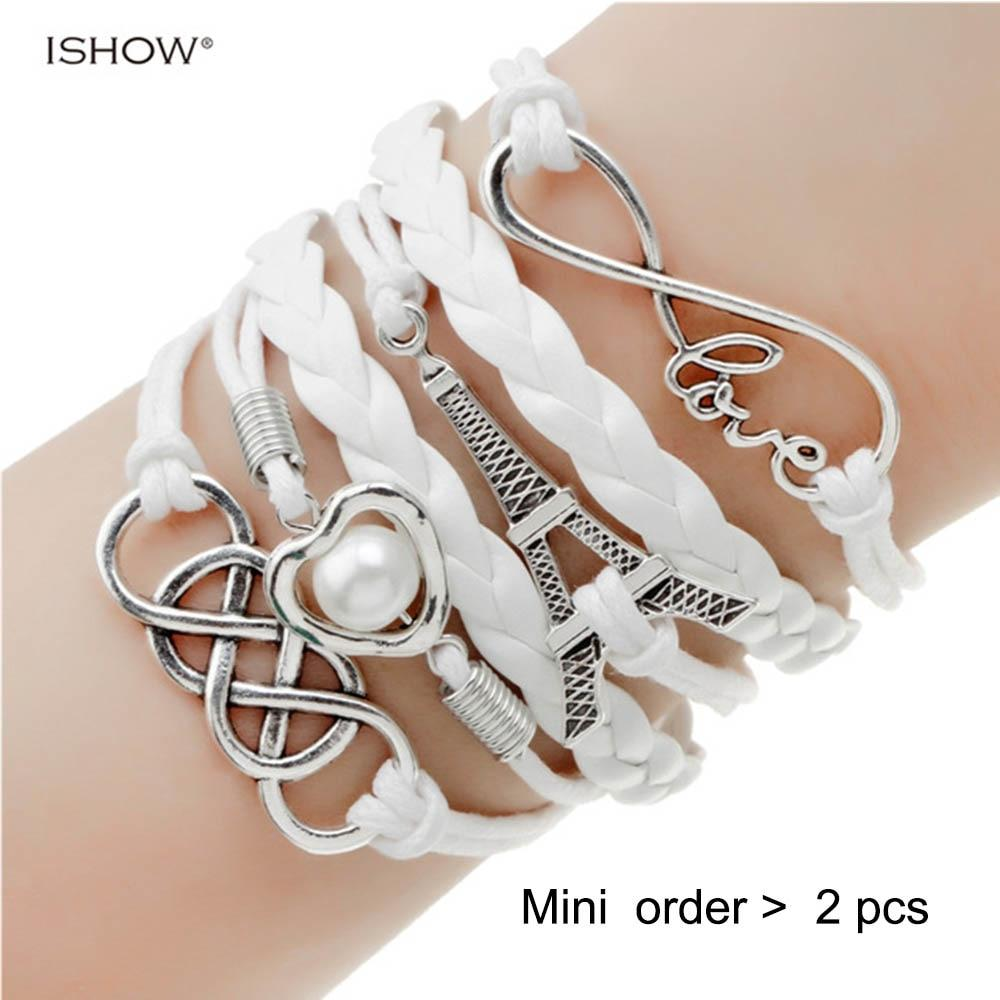 The Infinite Multilayer Leather and Metal Charm Bracelet