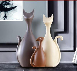 Europe Ceramics Cat Figurines