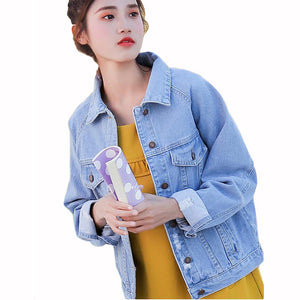 Women Basic Coat Denim Jacket