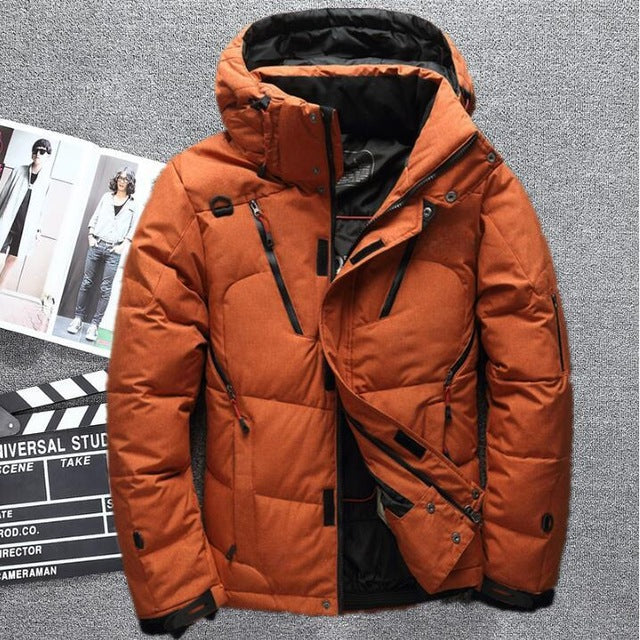 High Quality White Duck Hooded Down jacket