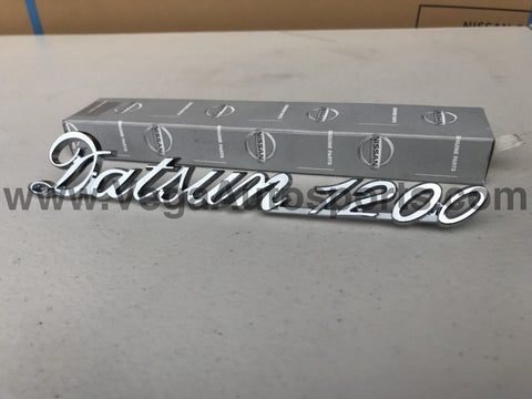 """DATSUN 1200"" Trunk Lid Emblem Boot Badge to suit B110 B120 B122 Ute - Vega Autosports"