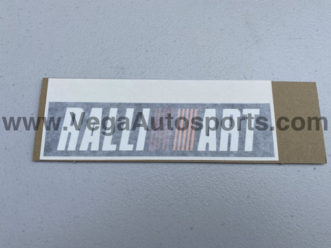 """Ralliart"" Rear Bumper Decal  to suit Mitsubishi Lancer Evolution 6.5 TME CP9A - Vega Autosports"
