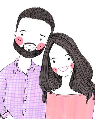 Personalized quirky digital Portrait / illustration