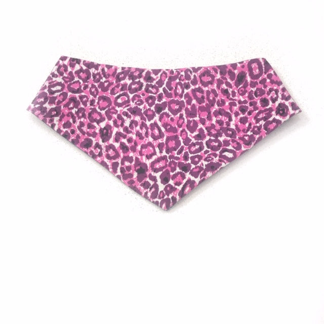 Leopard Hot Pink Dog Bandana