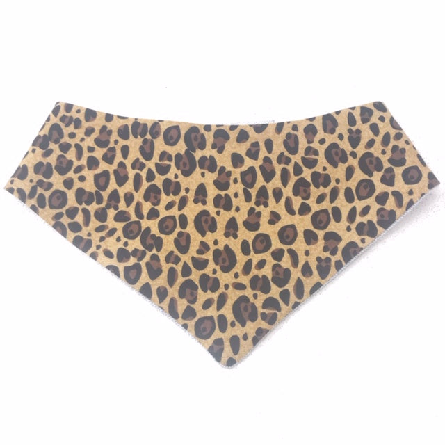 Leopard Brown Dog Bandana