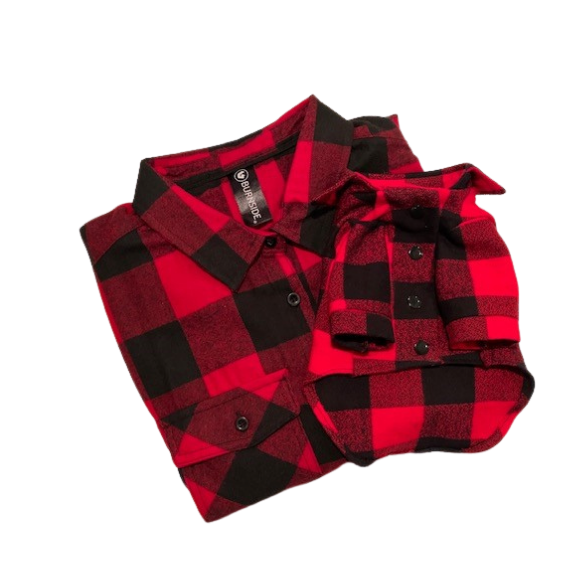 Red Plaid Buffalo button Up Ladies