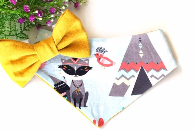 Tribal Foxes Dog Bandana