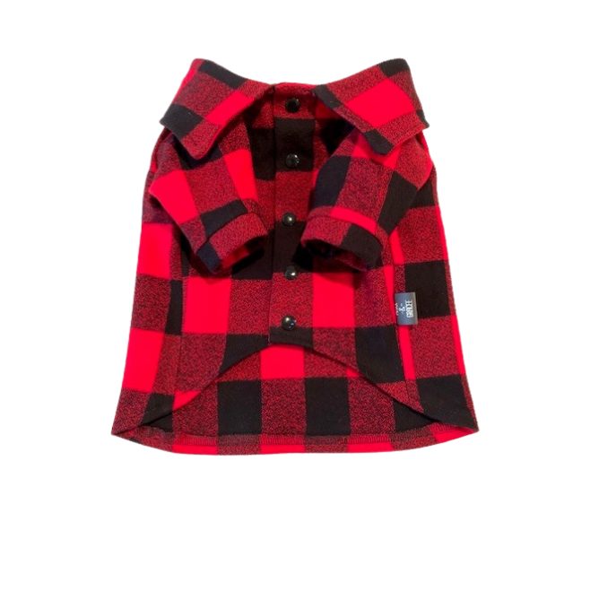 Dog Red Plaid Buffalo Snap Up