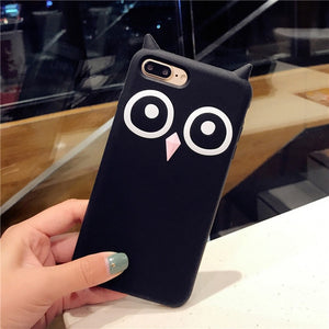Silica Gel Owl Cover Case For iPhone