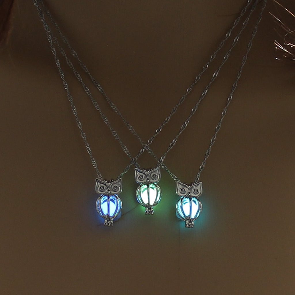 Glowing Owl Pendant Necklace