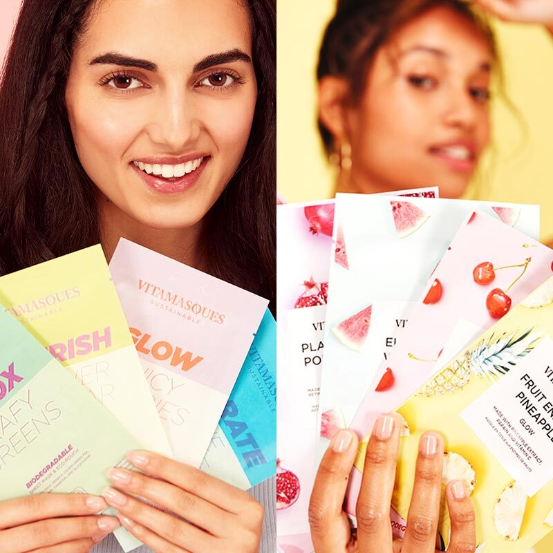 Vitamasques Juicy and Biodegradable Collections feature sustainable sheet masks that are vegan-friendly