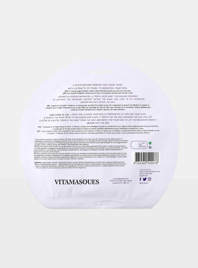Pearl Sheet Mask | Vitamasques