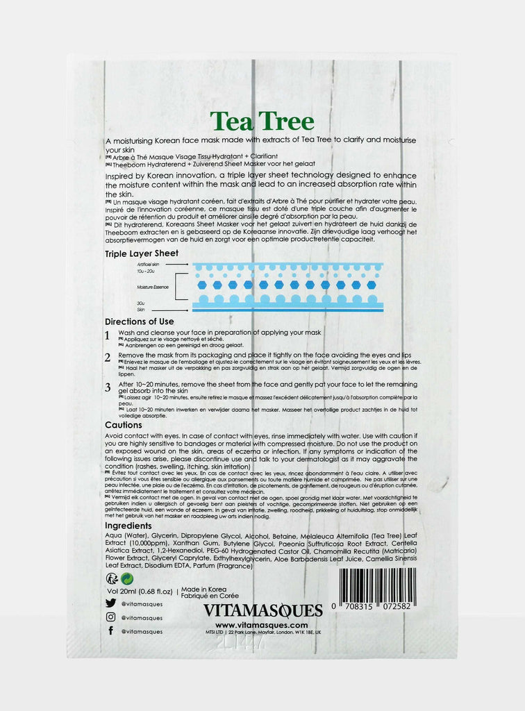 Tea Tree Sheet Face Mask | Vitamasques