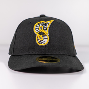 "Black ""S"" New Era 59Fifty Fitted Cap"
