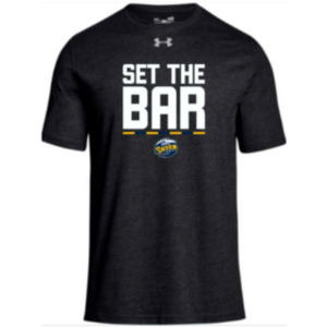 "UA Men's Black ""Set The Bar"" Stadium Tee"