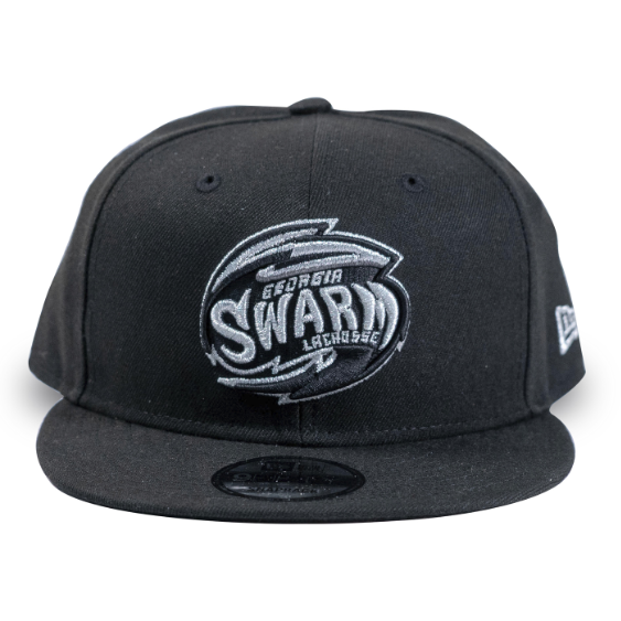 Black and Silver Swarm New Era 59Fifty Snapback Cap