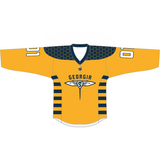 Adult Replica Georgia Swarm Custom Yellow Jersey