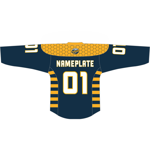 Youth Georgia Swarm Custom Navy Jersey