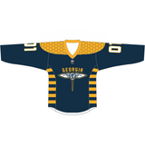 Adult Replica Georgia Swarm Custom Navy Jersey