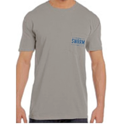 Men's Short Sleeve Gray/Navy Pocket Tee