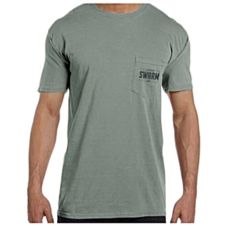 Short Sleeve Gray/Black Pocket Tee