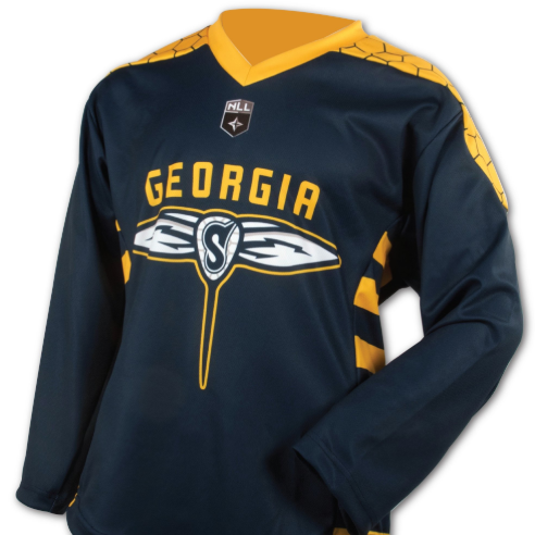 Youth XS Replica Georgia Swarm Navy Jersey