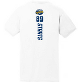 White SS #83 Staats Name & Number Tee