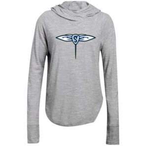 UA Women's Stadium Grey Stinger Long Sleeve Hoodie