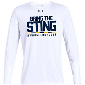 "UA Men's White ""Bring The Sting"" Long Sleeve Tee"