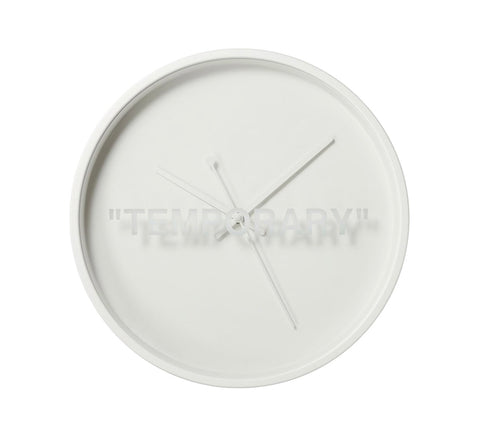 "Virgil Abloh x IKEA MARKERAD ""TEMPORARY"" Wall Clock White"