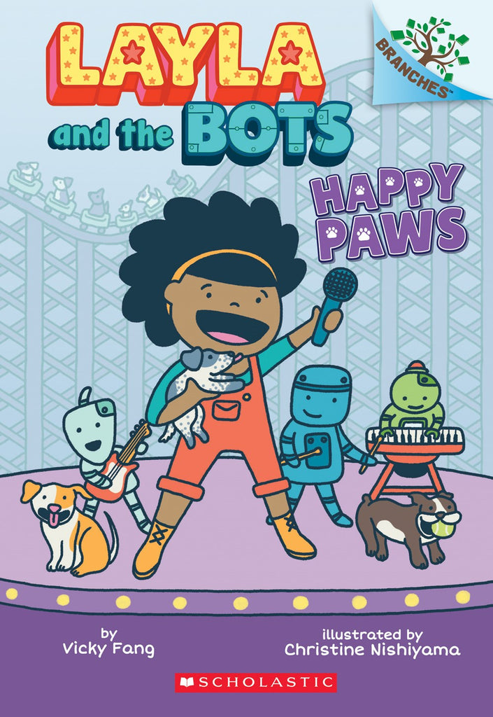 Vicky Fang author Layla and the Bots: Happy Paws