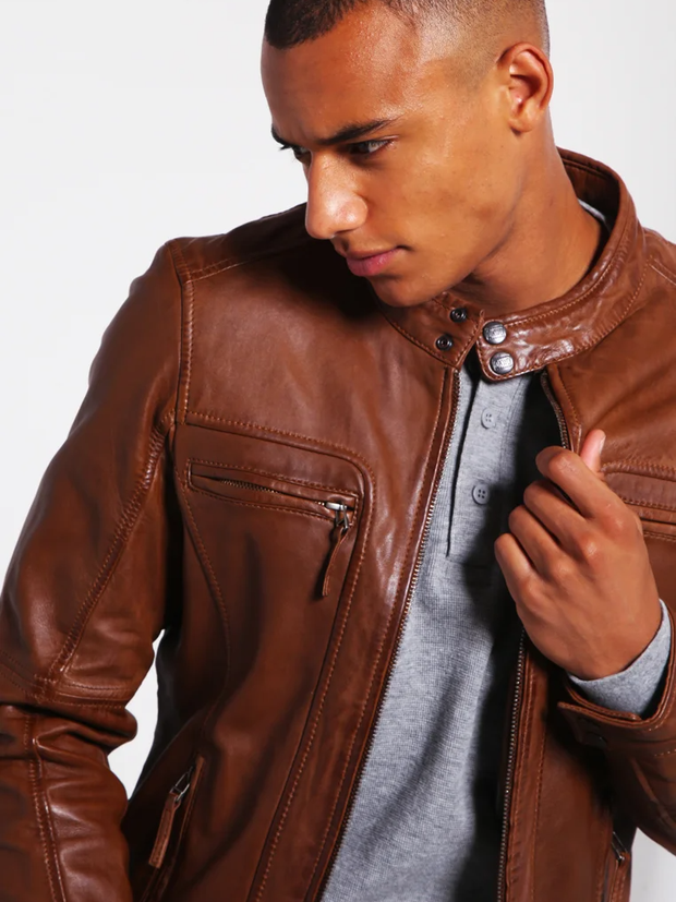 Casey Tanned Leather Jacket