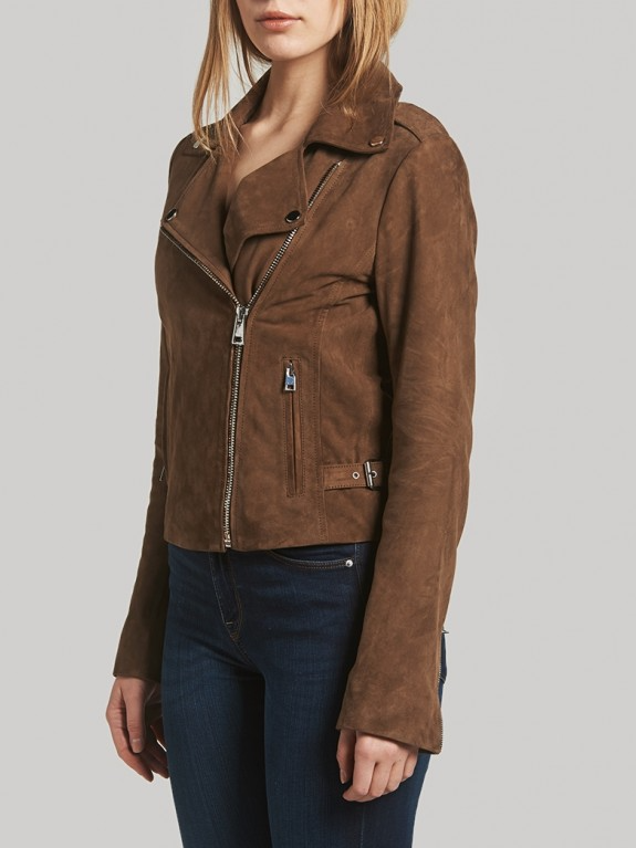 Paige Suede Leather Jacket
