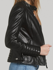 Daisy Black Leather Jacket