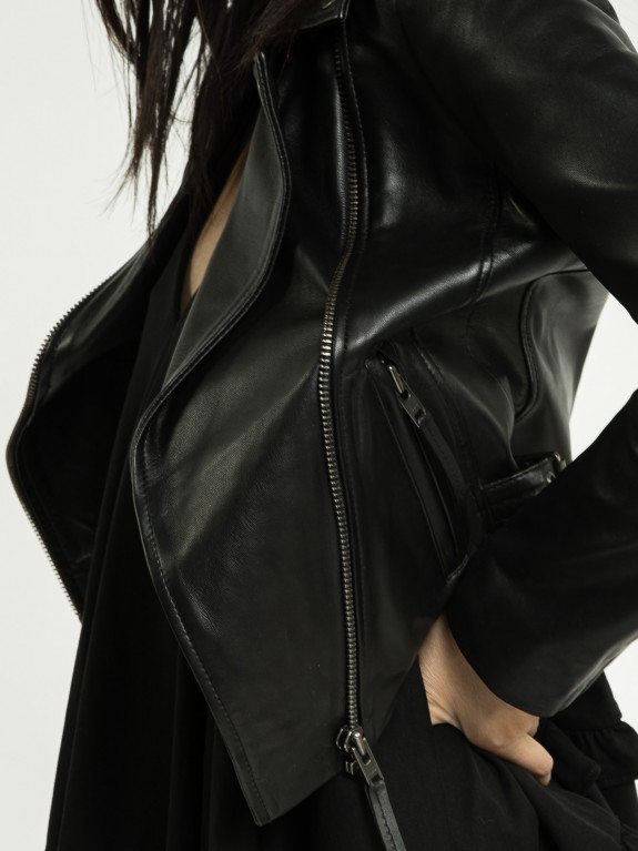 Lara Black Leather Jacket