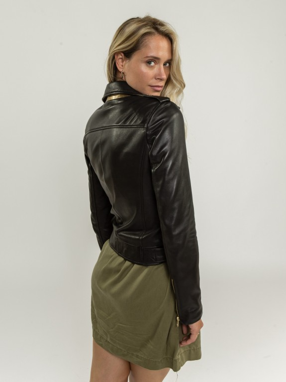 Evie Black Leather Jacket