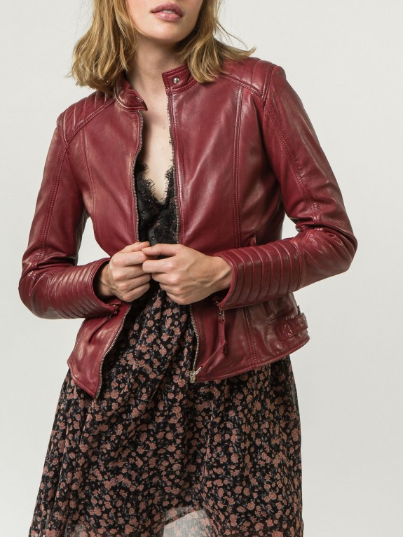 Daisy Red Leather Jacket